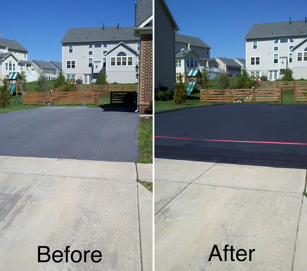 how to get oil off driveway asphalt