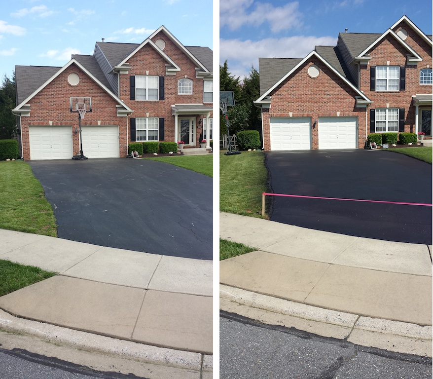 Driveway Sealing Frederick MD Before & After