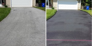 Walkersville MD Driveway Sealcoating Before and After